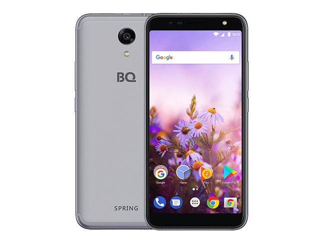 Смартфон BQ-5702 Spring Grey MediaTek MT6580M (1.3)/8 Gb/1 Gb/5.7 (960x480)/DualSim/3G/4G/BT/Android 7.0 смартфон bq bq 5510 strike power max 4g золотистый mediatek mt6737 1гб 8 гб 5 5 1280x720 13mpix dualsim 3g 4g bt android 7 0