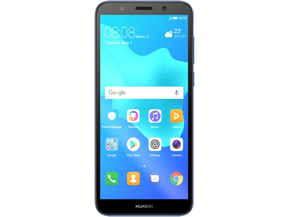 Смартфон Huawei Y5 2018 Prime (DRA-LX2) Blue MediaTek MT6739 (1.3)/16 Gb/2 Gb/5.45 (1440x720)/DualSim/3G/4G/BT/Android 8.1 смартфон bq bq 5510 strike power max 4g золотистый mediatek mt6737 1гб 8 гб 5 5 1280x720 13mpix dualsim 3g 4g bt android 7 0