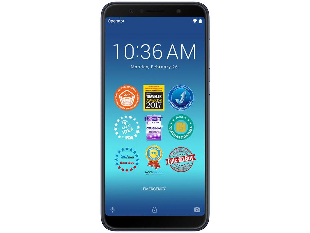 Смартфон Asus ZenFone Max Pro M1 (ZB602KL/Deepsea Black) Qualcomm SDM636 (1.8)/64 Gb/4 Gb/6 (2160x1080)/DualSim/3G/4G/BT/Android 8.1 сотовый телефон asus zenfone max m1 zb555kl 16gb