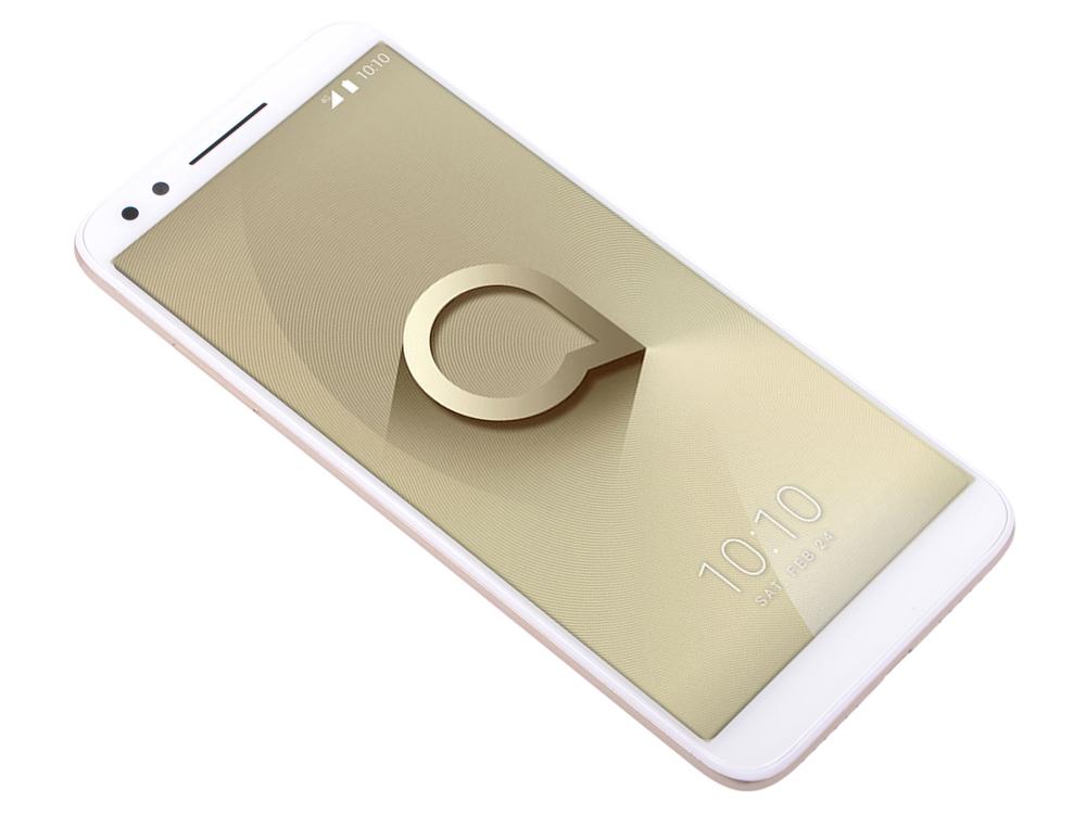 Смартфон Alcatel 3L 5034D Metalic Gold MediaTek MT6739/16 Gb/2 Gb/5.5 (1440x720)/DualSim/3G/4G/BT/Android 8.0 смартфон bq bq 5510 strike power max 4g золотистый mediatek mt6737 1гб 8 гб 5 5 1280x720 13mpix dualsim 3g 4g bt android 7 0