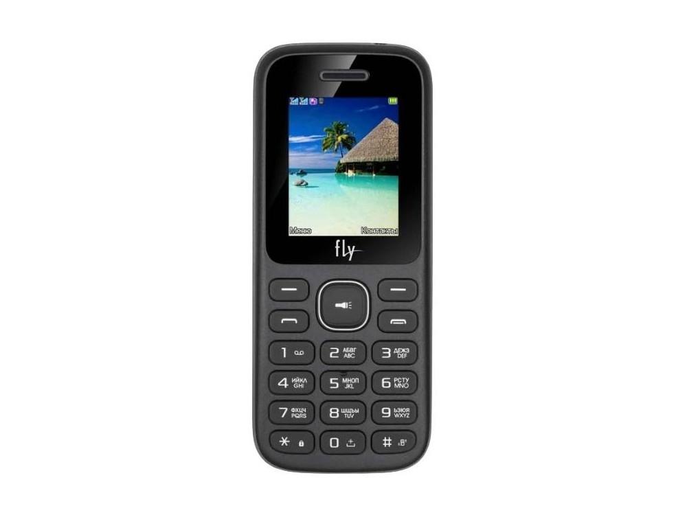 цена на Мобильный телефон Fly FF188 (Black) Mediatek MT6261A (0.26) / 24MB / 32MB (32GB TF) / 2Sim / 2G / BT / FM