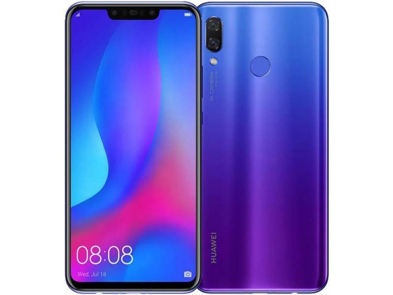 Смартфон Huawei Nova 3 (Purple) HiSilicon Kirin 970 (2.4) / 128 GB / 4 GB / 6.3 (2340x1080) / 2Sim / 3G / 4G LTE / GPS / Android 8.1 компьютерные аксессуары oem 5pcs ipad wifi 3g gps