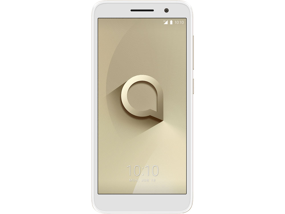 Смартфон Alcatel 1 5033D Metalic Gold MediaTek MT6739 (1.3)/8 Gb/1 Gb/5 (960x480)/DualSim/3G/4G/BT/Android 8.1 смартфон bq 5211 strike 85957679 black mediatek mtk6580a 1 3 8 gb 1 gb 5 2 1280x720 dualsim 3g bt android 7 0
