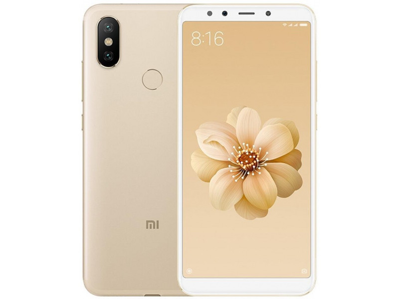 Смартфон Xiaomi Mi A2 Gold (MiA2GB64GLD) Qualcomm Snapdragon 660 (2.0) / 4GB / 64GB / 5.99 2160x1080 IPS / 12Mp + 20Mp, 20Mp / 2Sim / 3G / 4G LTE / IRDA / GPS / Android 8.1 fiio x5 2nd gen gold