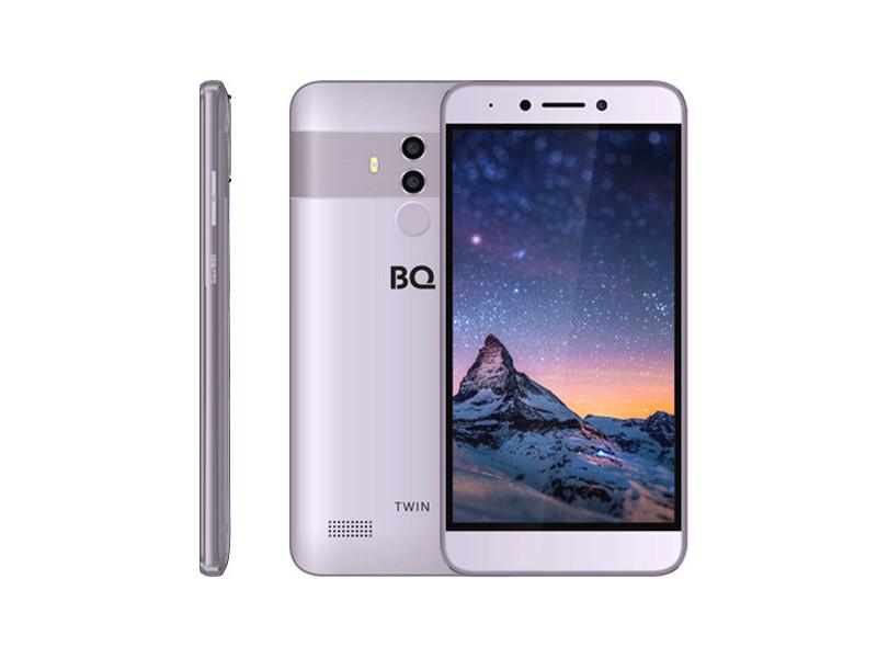 Смартфон BQ-5516L Twin (Grey) MediaTek MT6750 (1.5) / 2GB / 16GB / 5.5 1920x1080 IPS / 2SIM / 3G / 4G LTE / 13Mp+2Mp, 8Mp / FPR / Android 8.1 смартфон meizu u20 16gb silver android 6 0 marshmallow mt6755 1800mhz 5 5 1920x1080 2048mb 16gb 4g lte 3g edge hsdpa hsupa [u685h 16 sw]