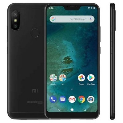 Смартфон Xiaomi Mi A2 Lite (Black) Snapdragon 625 (2.0) / 3GB / 32GB / 5.84 2280x1080 / 12Mp+5Mp, 5Mp / 2Sim / 3G / LTE / IRDA / GPS / Android 8.1 f42 waterproof sports 0 8 lcd cmos 5mp 12mp wi fi hd camera camcorder black