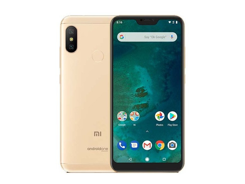 Смартфон Xiaomi Mi A2 Lite Gold 8 Core(2.0GHz)/3GB/32GB/5.84 2280x1080/2 Sim/12MP+5MP/5MP/3G/LTE/IRDA/BT/Wi-Fi/GPS/Android 8.1 smartch h1 smart watch android 5 1 os smartwatch 512mb 4gb rom gps sim 3g heart rate monitor camera waterproof sports wristwatch