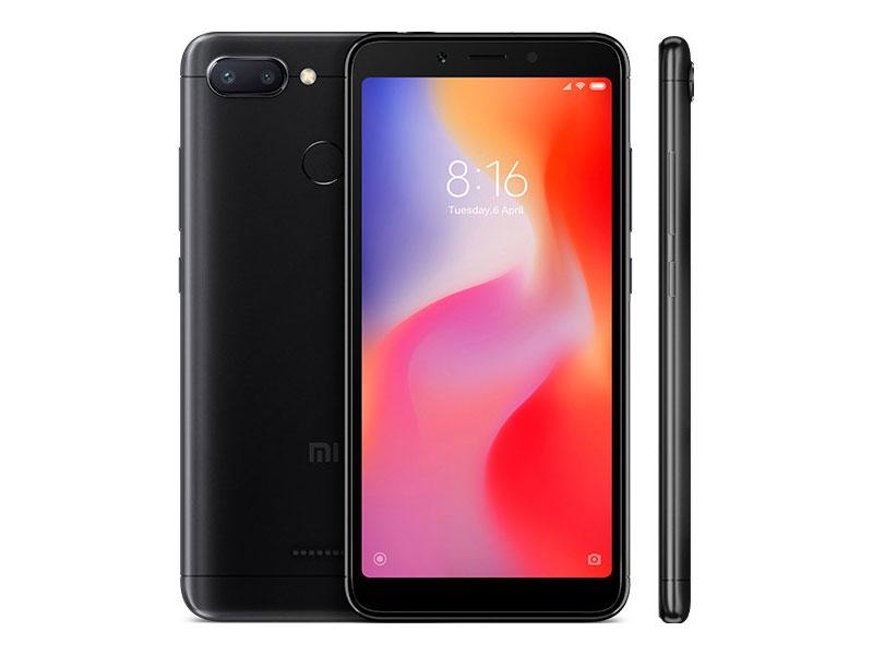 Смартфон Xiaomi Redmi 6 (Black) MediaTek MT6762 (2.0) / 3GB / 32GB / 5.45 1440x720 IPS / 2Sim / 3G / 4G LTE / 12Mp+5Mp, 5Mp / Android 8.1 (Redmi6BL32GB) uhans s1 5 0 inch 2 5d hd 4g lte android 6 0 3gb 32gb smartphone