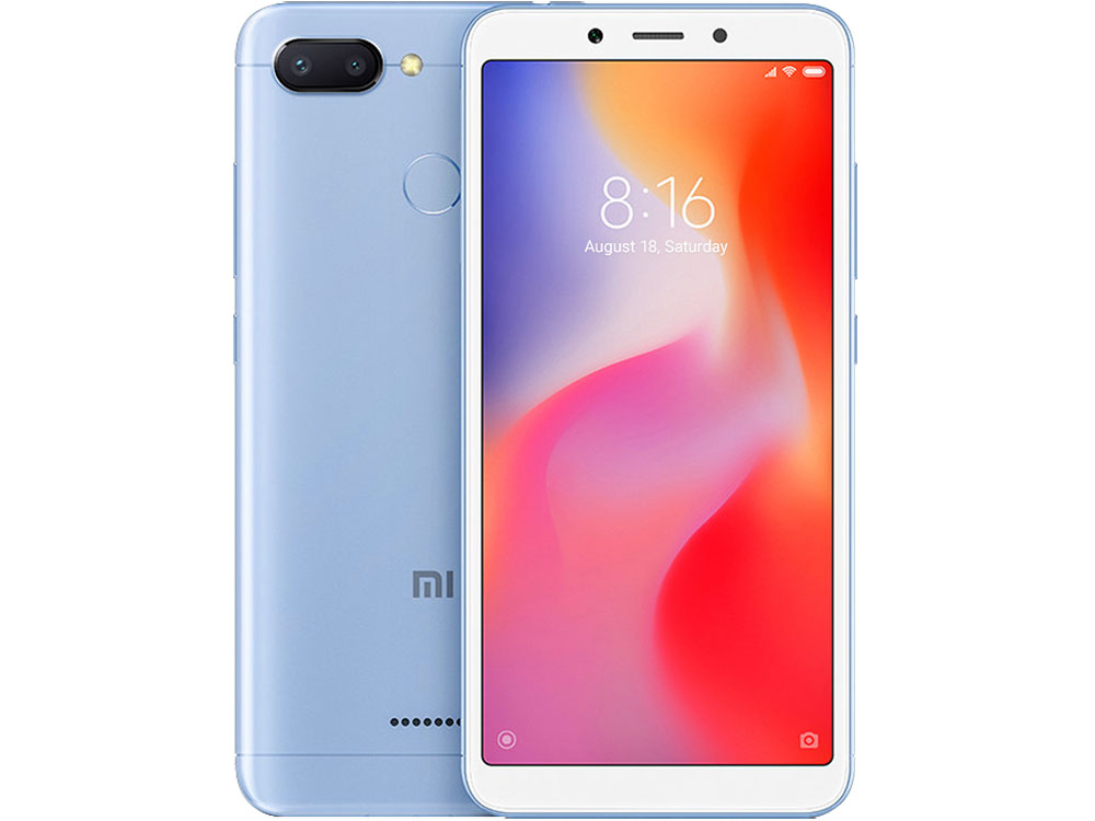 Смартфон Xiaomi Redmi 6 (Blue) MediaTek MT6762 (2.0) / 3GB / 32GB / 5.45 1440x720 IPS / 2Sim / 3G / 4G LTE / 12Mp+5Mp, 5Mp / Android 8.1 (Redmi6BLU32GB) uhans s1 5 0 inch 2 5d hd 4g lte android 6 0 3gb 32gb smartphone