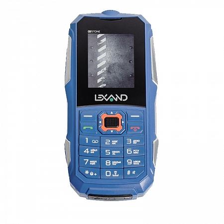 Защищенный Tелефон LEXAND R2 STONE (синий) 2SIM/защита IP67 /0.3Mpix/FM/BT/MP3/фонарик/1600мАч usb перезаряжаемый высокой яркости ударопрочный фонарик дальнего света конвой sos факел мощный самозащита 18650 батареи