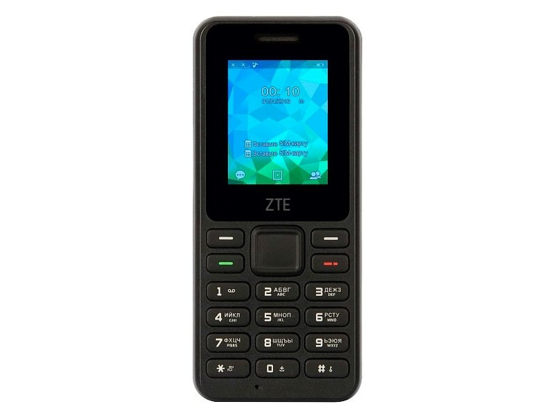 Мобильный телефон ZTE R538 (2G) черный мобильный телефон zte f327 белый
