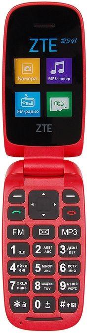 Мобильный телефон ZTE R341 Red 1.77 (128x160)/DualSim/BT/microSD мобильный телефон zte n1 золотистый