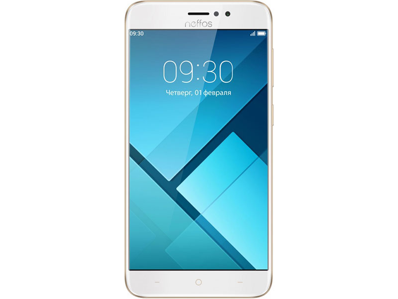 Смартфон Neffos C7 Sunrise Gold (TP910A44RU) MediaTek MT6750 (1.3)/16 Gb/2 Gb/5.5 (1280x720)/DualSim/3G/4G/BT/Android 7.0 смартфон lg k10 2017 gold mediatek mt6750 2gb 16gb 5 3 1280x720 3g 4g 13mp 5mp android 7 0