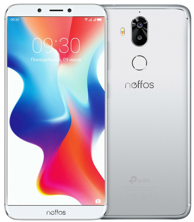 Смартфон Neffos X9 TP913A66RU Moonlight Silver MediaTek MT6750 (1.5)/32 Gb/3 Gb/5.99 HD+/DualSim//3G/4G/BT/Android 8.1 смартфон bqs 5050 strike selfie grey mediatek mt6580 1 3 8 gb 1 gb 5 1280x720 dualsim 3g bt android 6 0