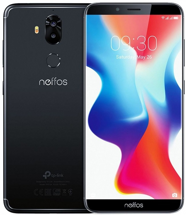 Смартфон Neffos X9 TP913A56RU Space Black MediaTek MT6750 (1.5)/32 Gb/3 Gb/5.99 HD+/DualSim//3G/4G/BT/Android 8.1 смартфон bqs 5050 strike selfie grey mediatek mt6580 1 3 8 gb 1 gb 5 1280x720 dualsim 3g bt android 6 0