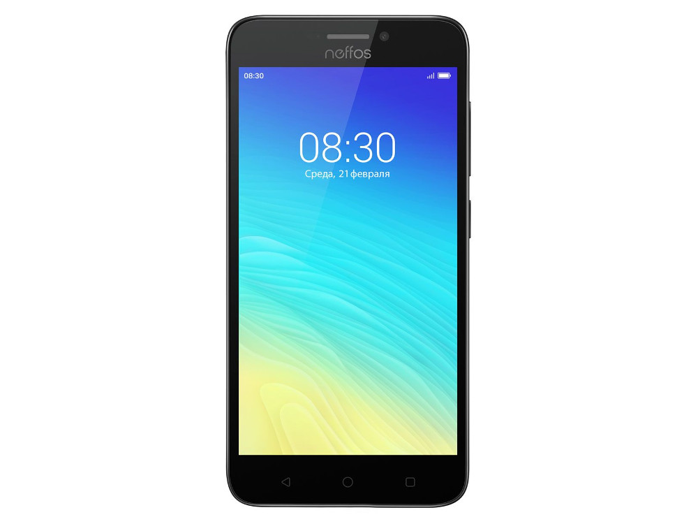 Смартфон TP-LINK Neffos Y5s Dark Grey (TP804A24RU) Snapdragon 210 (1.2) / 2GB / 16GB / 5.0 1280x720 IPS / 2Sim / 3G / 4G LTE / 8Mp, 2Mp / Android 7.0 oukitel k7000 5 0 inch 4g quad core android smart phone