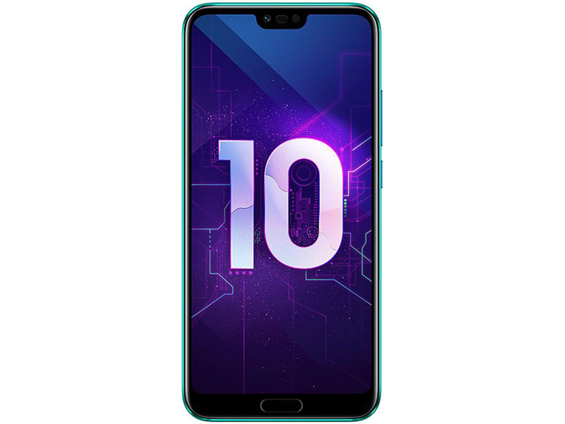 Смартфон HONOR 10 64Gb Phantom Green Kirin 970(2.36GHz)/4GB/64GB/5.84 2280x1080/2 Sim/3G/LTE/BT/Wi-Fi/16Mp+24Mp/24Mp/GPS/Glonas/Android 8.1 leagoo lead4 dual core android 4 2 wcdma bar phone w 4 0 wvga 4gb rom wi fi gps ota black