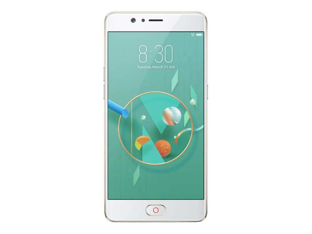 Смартфон ZTE Nubia M2 (Gold) Snapdragon 625 (2.0) / 4GB / 64GB / 5.5 1080x1920 AMOLED / 13Mp+13Mp, 16Mp / 2Sim / 3G / 4G LTE / GPS / Android 6.0 zte смартфон zte nubia z17 mini 64gb ram 4gb белый white gold