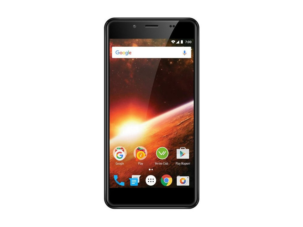Смартфон Vertex Impress Eclipse 4G (VCLPS-GLD) MediaTek MT6739 (1.5) / 1GB / 8GB / 5.2 1280x720 IPS / 2Sim / 3G / 4G LTE / 13Mp+0.3Mp, 5Mp / Android 7.0 (Gold)