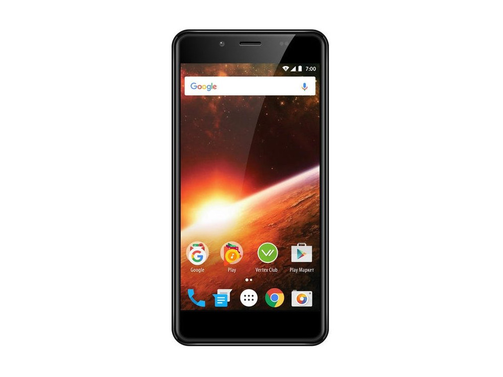 Смартфон Vertex Impress Eclipse 4G (VCLPS-GRPH) MediaTek MT6739 (1.5) / 1GB / 8GB / 5.2 1280x720 IPS / 2Sim / 3G / 4G LTE / 13Mp+0.3Mp, 5Mp / Android 7.0 (Graphite) смартфон bq 5510 strike power max 4g mint gray mediatek mt6737 1 3 1gb 8gb 5 5 1280х720 ips 4g lte 2sim 13mp 8 mp cam android 7 0
