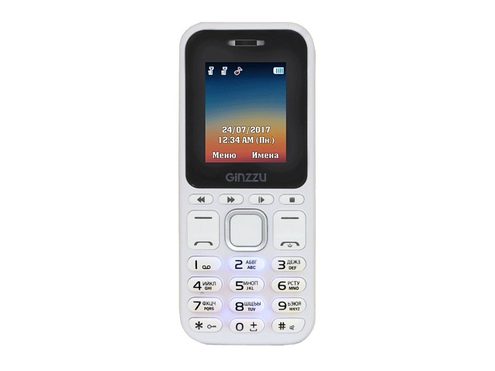 Телефон GINZZU M102D mini (White) 1.8