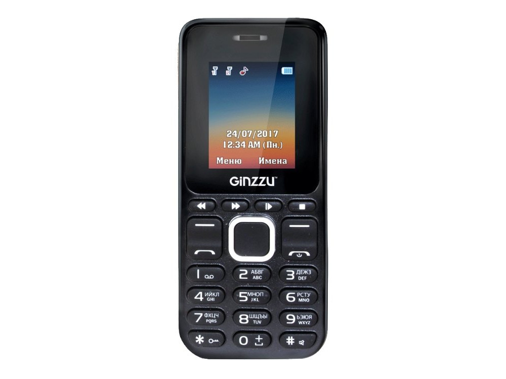 Телефон GINZZU M102D mini (Black) 1.8 / 2SIM / GPRS / 0.3 Mp / Flash / MP3 / FM сотовый телефон senseit t100 black