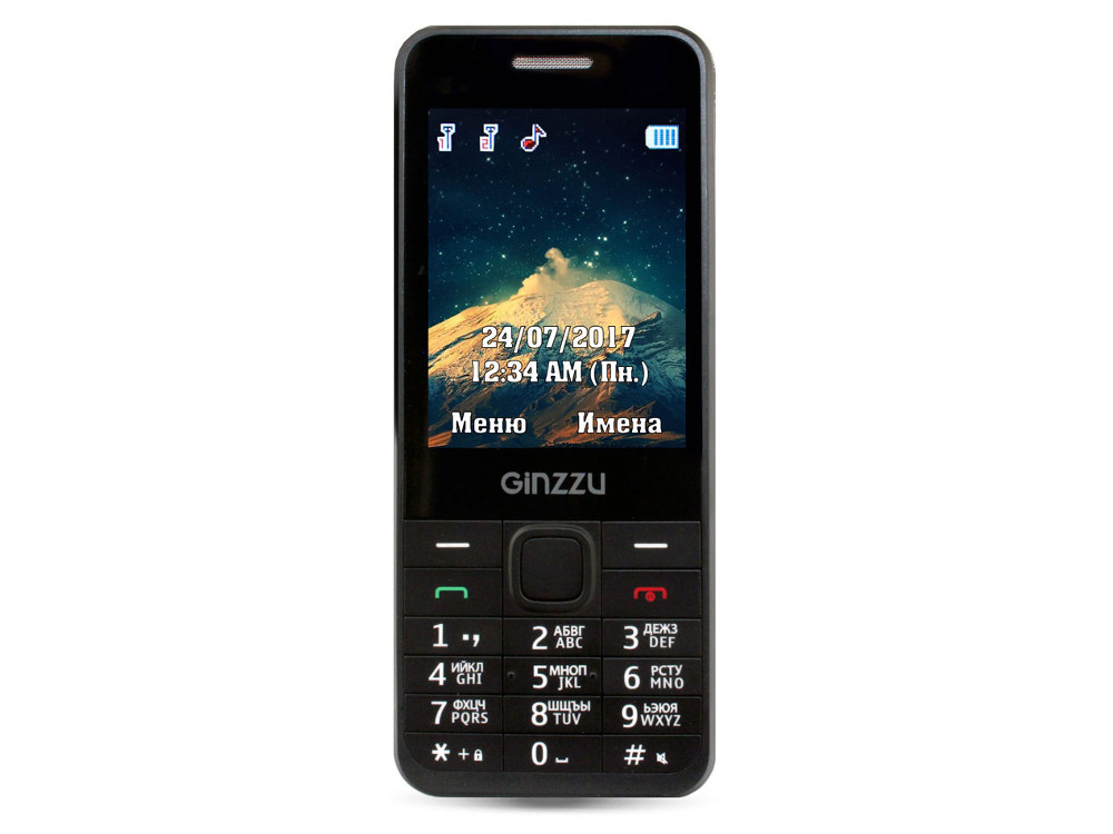 Фото - Телефон GINZZU M108D (Black) 2.8 / 2SIM / GPRS / 0.3 Mp / Flash / MP3 / FM / BT 4 in 1 0 6 lcd car mp3 player fm transmitter w 3 5mm audio plug black dc 12v 63cm cable