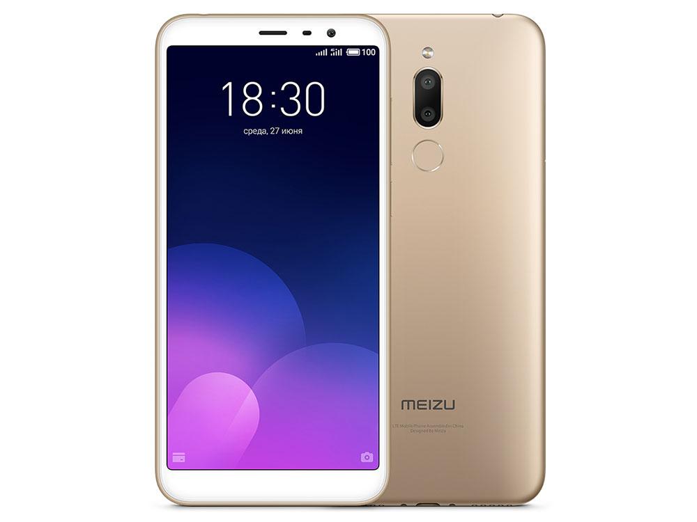 Смартфон Meizu M6Т 32Gb (M811H) Gold MediaTek MT6750 (1.5)/32 Gb/3 Gb/5.7 (1440x720)/DualSim/3G/4G/BT/Android 7.0 смартфон bq bq 5510 strike power max 4g золотистый mediatek mt6737 1гб 8 гб 5 5 1280x720 13mpix dualsim 3g 4g bt android 7 0