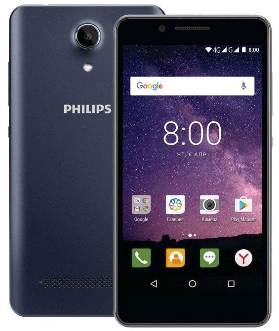 Смартфон Philips S327 1/8Gb Royalblue наушники philips she1450wt 51 white