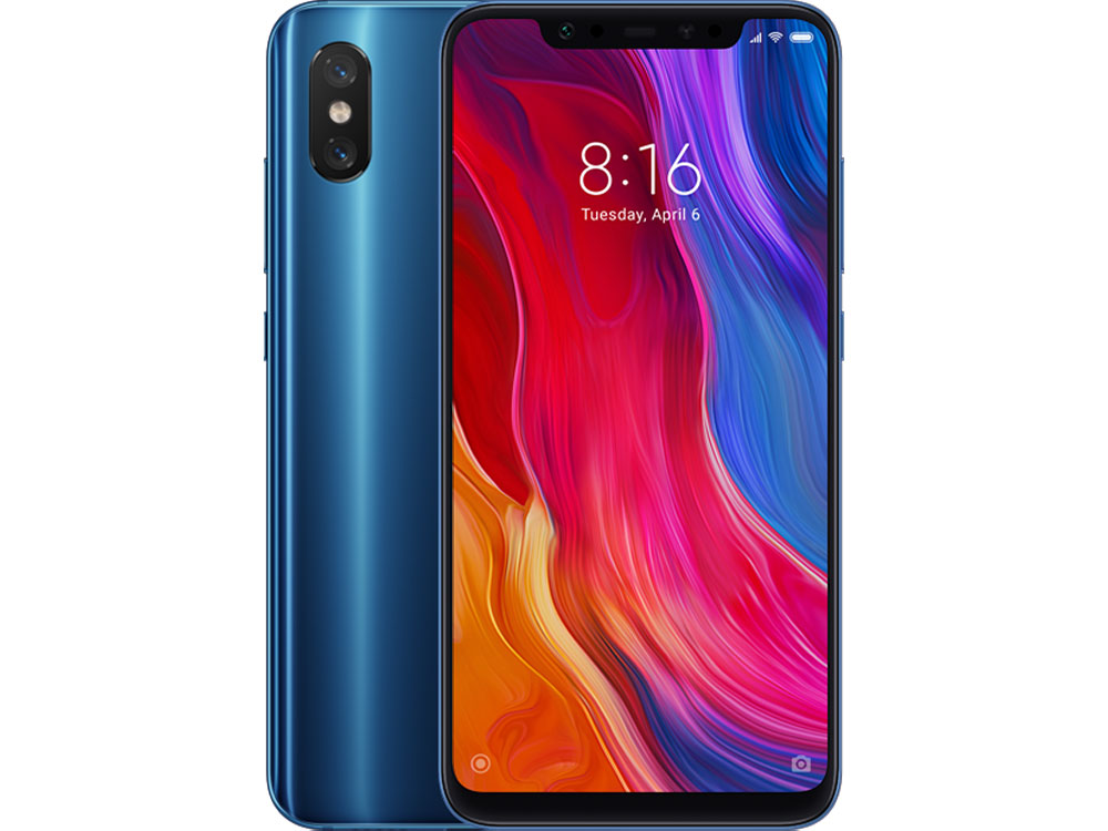 Смартфон Xiaomi Mi 8 64 Blue Qualcomm Snapdragon 845 (2.8+1.7)/64 Gb/6 Gb/6.21 (2248x1080)/DualSim/3G/4G/BT/Android 8.1 смартфон nubia z17 lite blue gold qualcomm snapdragon 653 1 95 64 gb 8 gb 5 5 1920x1080 dualsim 3g 4g bt android 7 1