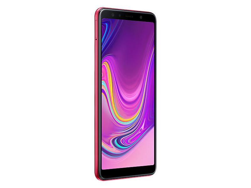 Смартфон Samsung Galaxy A7 (2018) (Pink) Samsung Exynos 7885 Octa (2.2) / 4GB / 64GB / 6 2220x1080 Super AMOLED / 2SIM / 24Mp+8Mp+5Mp, 24Mp / NFC / FPR / Android 8.0 (SM-A750FZIUSER) смартфон samsung galaxy a7 2018 black samsung exynos 7885 octa 2 2 4gb 64gb 6 2220x1080 super amoled 2sim 24mp 8mp 5mp 24mp nfc fpr android 8 0 sm a750fzkuser
