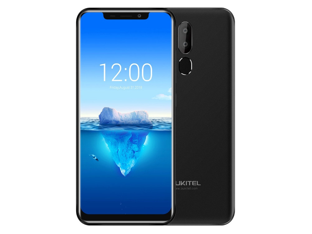 Смартфон Oukitel C12 PLUS 4G Black 4 Core (1.3GHz)/2GB/16GB/6.18 996*480/8Mp+2Mp/5Mp/2Sim/3G/4G/BT/WiFi/GPS/Android [genuine] t95u pro android 6 0 smart tv box amlogic s912 octa core 2gb 16gb 2 4 5ghz dual wifi vp9 h 265 uhd 4k media player