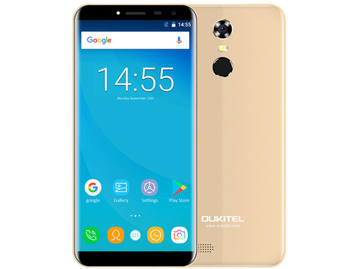 Смартфон Oukitel C8 4G Gold 4 Core (1.3GHz)/2GB/16GB/5.45 1280*640/13Mp/2Mp/2Sim/3G/4G/BT/WiFi/GPS/Android [genuine] t95u pro android 6 0 smart tv box amlogic s912 octa core 2gb 16gb 2 4 5ghz dual wifi vp9 h 265 uhd 4k media player