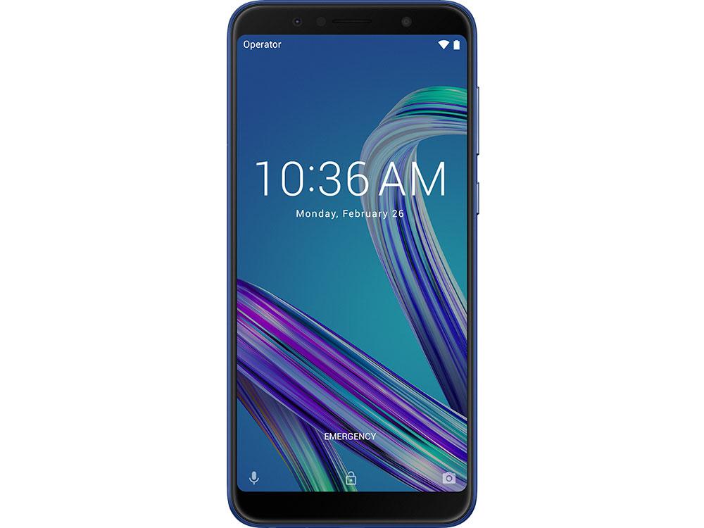 Смартфон Asus ZenFone Max Pro M1 (ZB602KL/Space Blue) Qualcomm SDM636 (1.8)/64 Gb/4 Gb/6 (2160x1080)/DualSim/3G/4G/BT/Android 8.1 смартфон xiaomi redmi note 6 pro blue qualcomm snapdragon 636 1 8 32 gb 3 gb 6 26 2280x1080 dualsim 3g 4g bt android 8 1