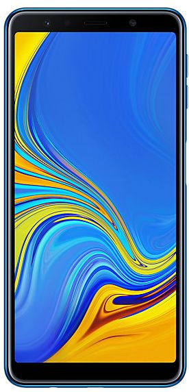"Смартфон Samsung Galaxy A7 (2018) SM-A750FN/DS синий Samsung Exynos 7885 Octa (2.2) / 4GB / 64GB / 6"" 2220x1080 Super AMOLED / 2SIM / 24Mp+8Mp+5Mp, 24"