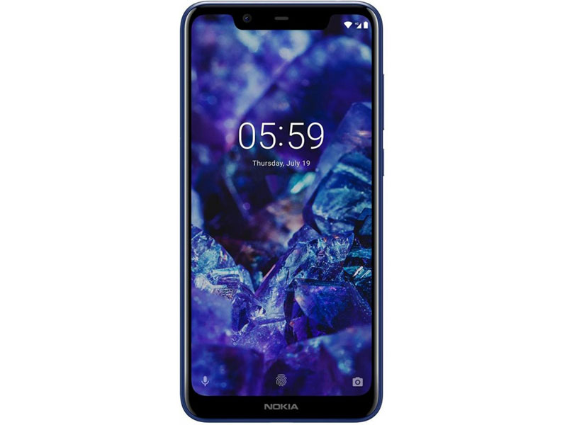 Смартфон Nokia 5.1 Plus DS (TA-1105) Blue MediaTek MT6771/5.8 (1520x720)/3G/4G/3Gb/32Gb/13Mp+5Mp/8Mp/Android 8.0 смартфон zte nubia z17 mini gold snapdragon 652 1 8 4gb 64gb 5 2 1080x1920 ltps 2sim 4g 13mp 13mp 16mp android 6 0