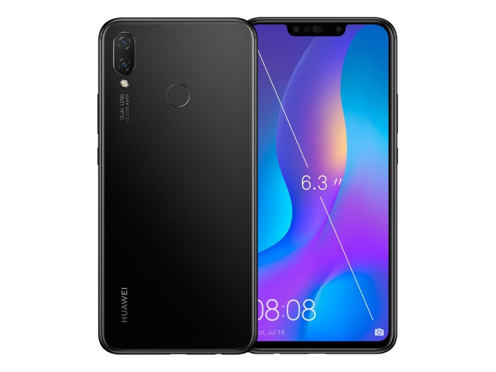 Смартфон Huawei Nova 3i (Black) HiSilicon Kirin 710 (2.2) / 4GB / 64GB / 6.3 2340x1080 IPS / 2Sim / 3G / 4G LTE / 16Mp + 2Mp, 24Mp / Android 8.1 new 2 fold folio pu leather stand cover case for onda v10 3g 4g call phone 10 1inch tablet pc black and white color gift