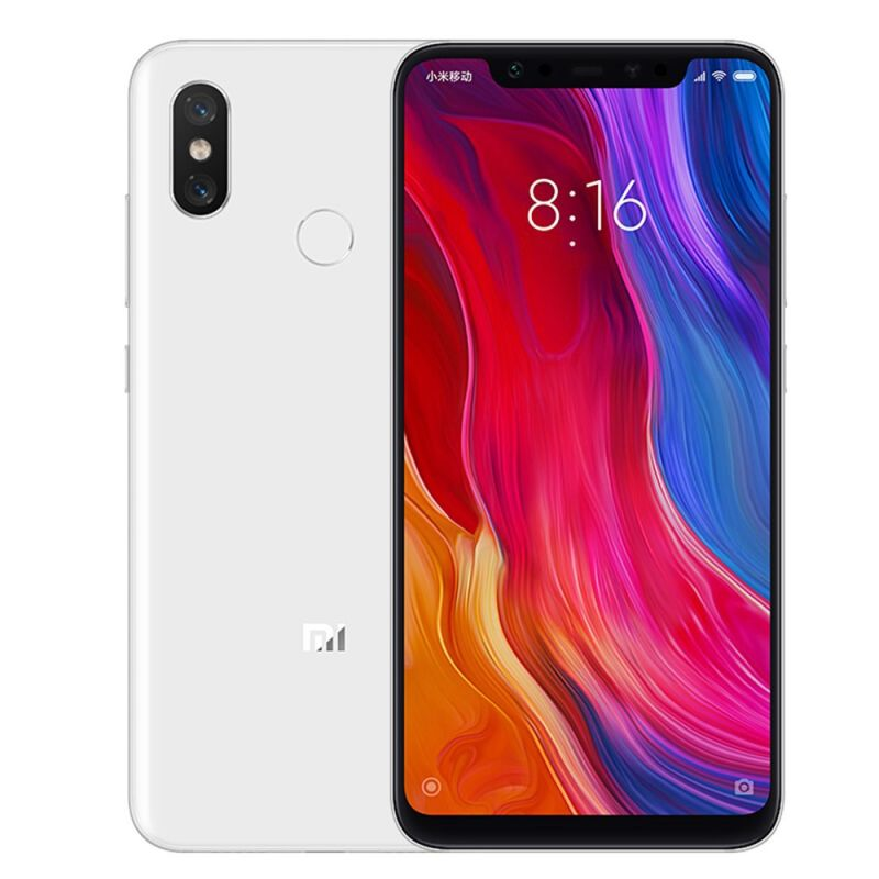 Смартфон Xiaomi Mi 8 128 White 8 Core(2.8GHz)/6GB/128GB/6.21 2248x1080/12Mp+12Mp/20Mp/2 Sim/3G/LTE/IRDA/BT/Wi-Fi/NFC/GPS/Galileo/Glonass f42 waterproof sports 0 8 lcd cmos 5mp 12mp wi fi hd camera camcorder black