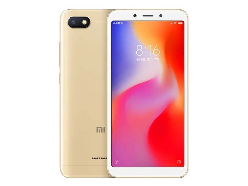Смартфон Xiaomi Redmi 6A Gold 4 Core(2.0GHz)/2GB/32GB/5.45'' 1440x720/13Mp+5Mp/2 Sim/3G/LTE/BT/Wi-Fi/GPS/Glonas/Android 8.1 смартфон alcatel 3v 5099d spectrum gold mediatek mt8735 2gb 16gb 6 0 2160x1080 2 sim 3g lte bt 12mp 2mp 5mp wi fi gps glonas android 8 0
