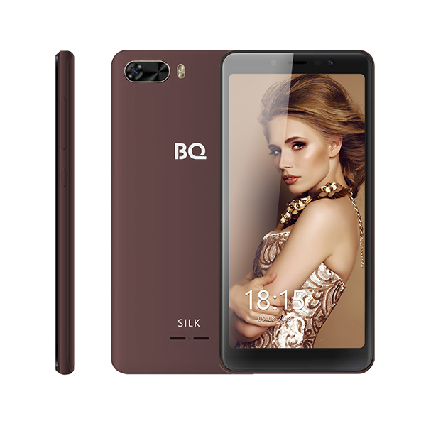 Смартфон BQ-5520L Silk Коричневый MediaTek MT6739 (1.5)/8 Gb/1 Gb/5.45 (1440x720)/DualSim/3G/4G/BT/Android 8.1 смартфон prestigio grace p7 psp7570duoblue blue mediatek mt6737 1 3 2 gb 16 mb 5 7 1440x720 dualsim 3g 4g bt android 7 0