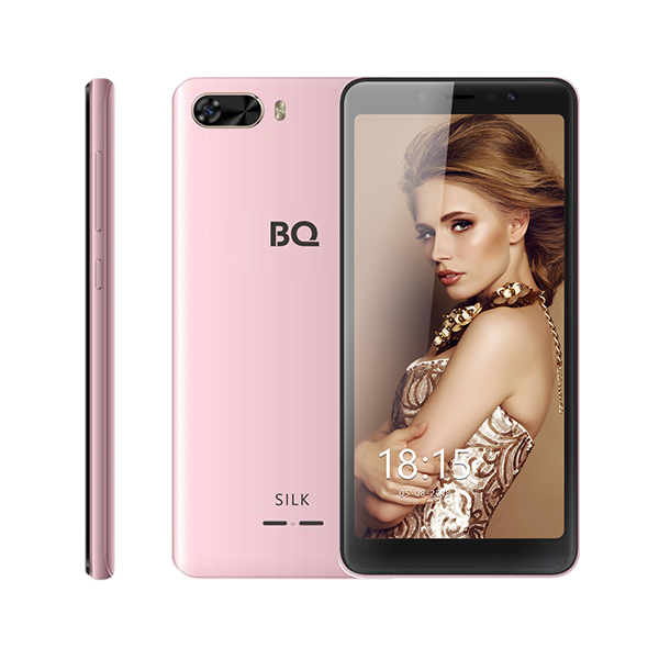 Смартфон BQ-5520L Silk Розовый MediaTek MT6739 (1.5)/8 Gb/1 Gb/5.45 (1440x720)/DualSim/3G/4G/BT/Android 8.1 смартфон prestigio grace p7 psp7570duoblue blue mediatek mt6737 1 3 2 gb 16 mb 5 7 1440x720 dualsim 3g 4g bt android 7 0