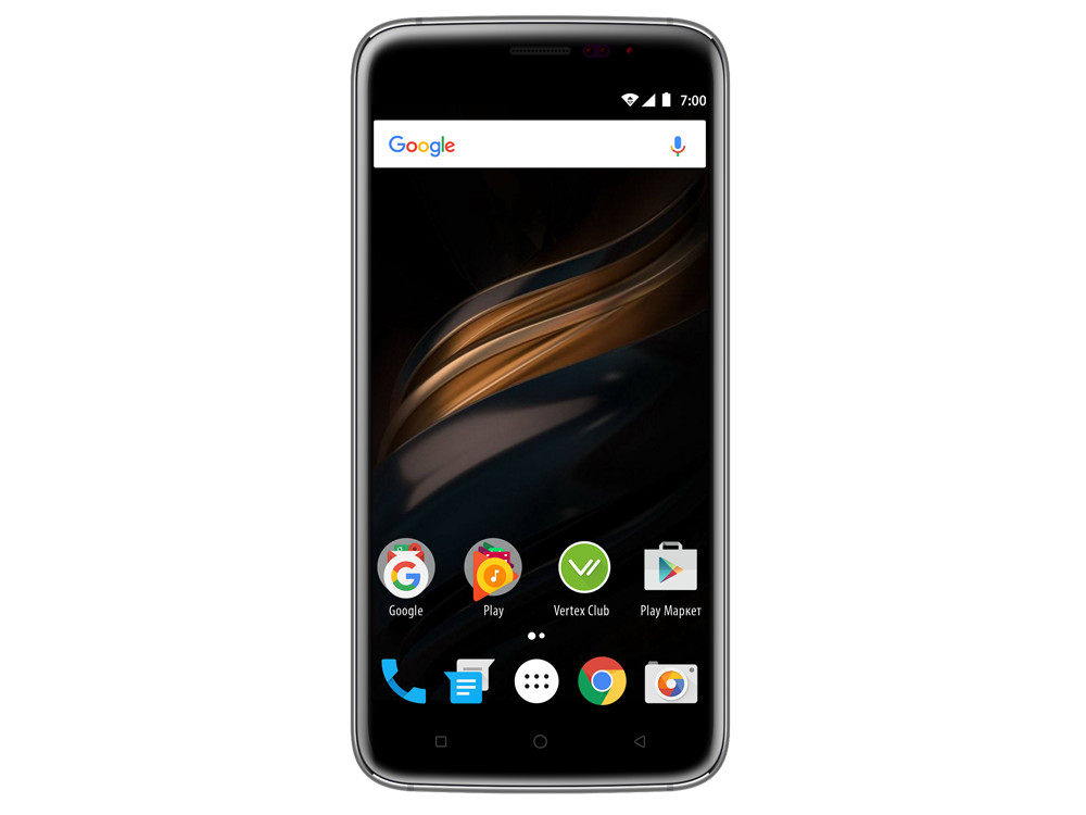 Смартфон Vertex Impress Win 5'' (4G), золотой смартфон vertex impress city lte black