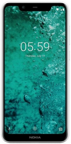 Смартфон Nokia 5.1 PLUS DS TA-1105 WHITE 5.8'' 19:9 1512x720, 1.8GHz+1.8GHz, 4+4 Core, 3GB RAM, 32GB, up to 400GB flash, 13Mpix+5Mpix/8Mpix, 2 Sim, 2G смартфон nokia 7 plus черный