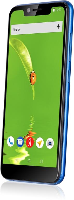 "Смартфон Fly View Blue MediaTek MediaTek MT6739 (1.5)/8 Gb/1 Gb/5.5"" (1132x540)/DualSim/3G/4G/BT/Android 8.1"