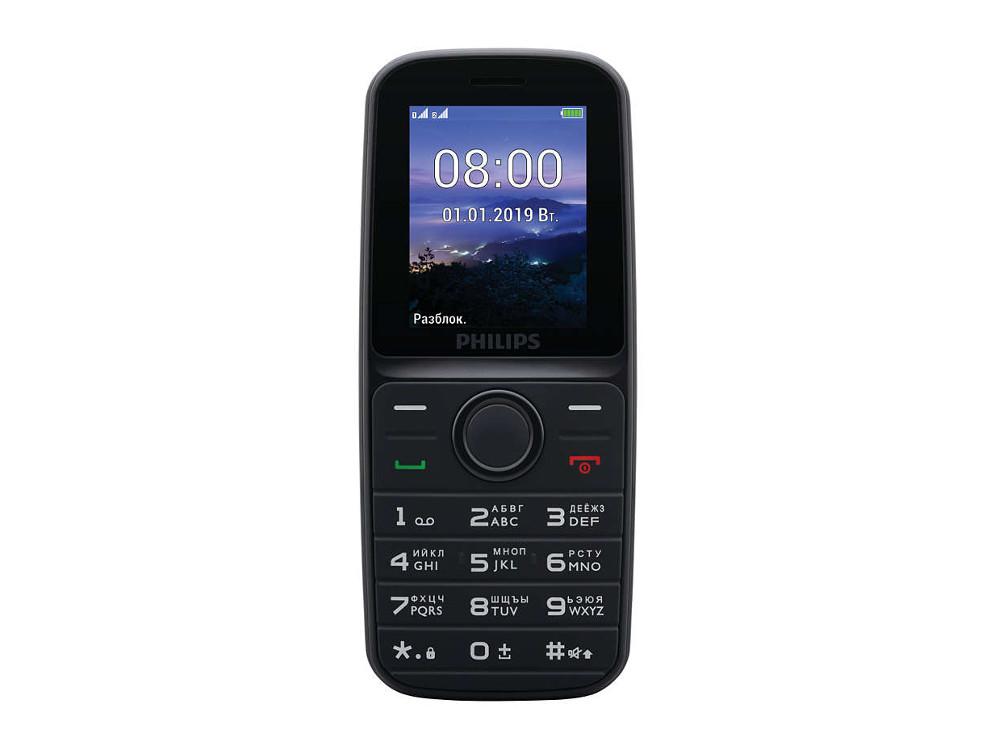 Мобильный телефон Philips E109 черный цена и фото
