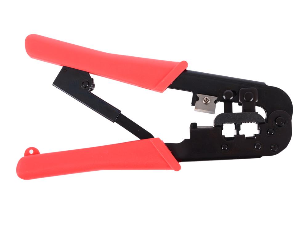 Инструмент Cablexpert T-568R, обжимной универс. с фиксатором, для витой пары и тел.линии