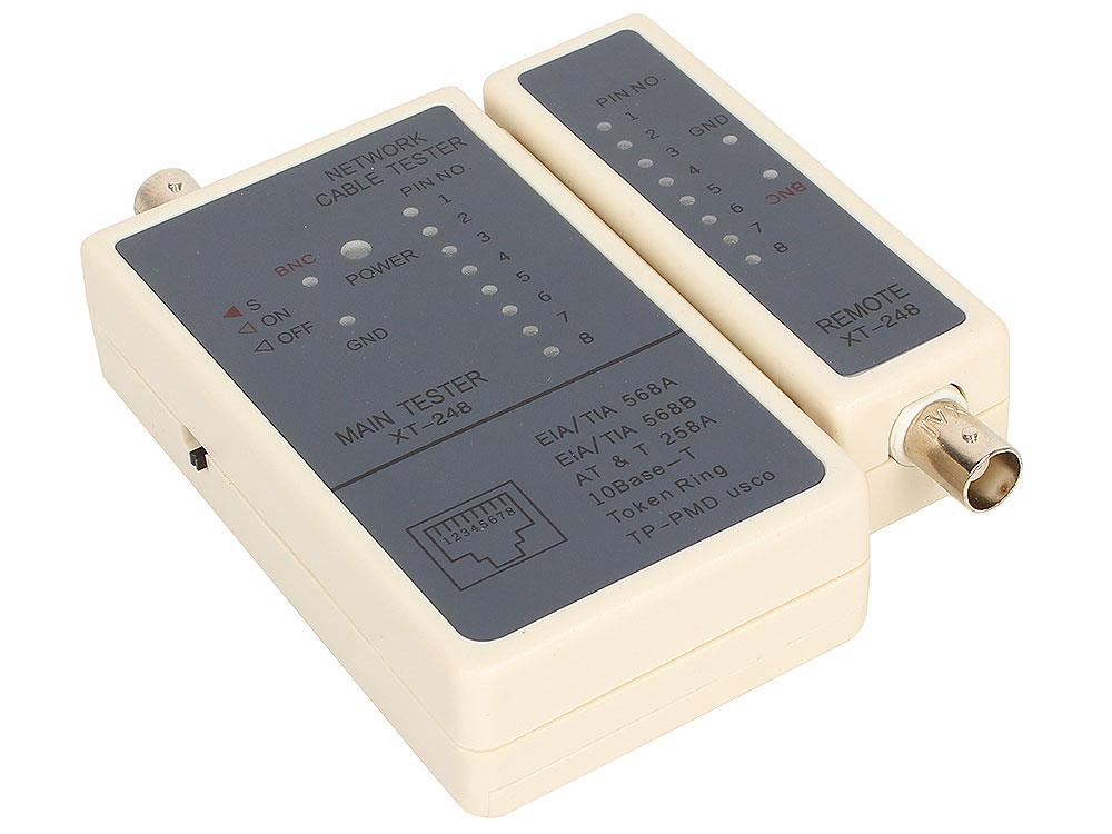 LAN тестер ST-248 для  RJ-11, RJ-12, RJ-45, BNC