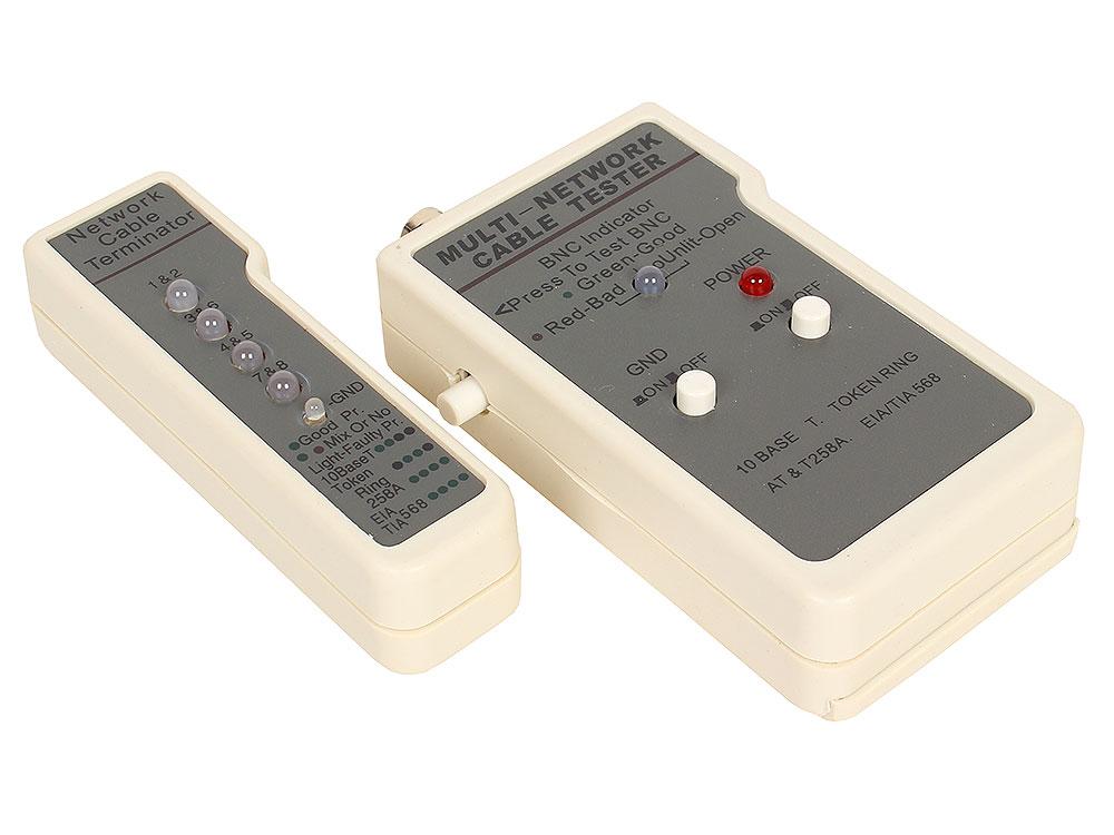 LAN тестер для BNC, RJ-45, (HL-004) тестер универсальный neomax lan tester nf 8108 utp stp rj 11