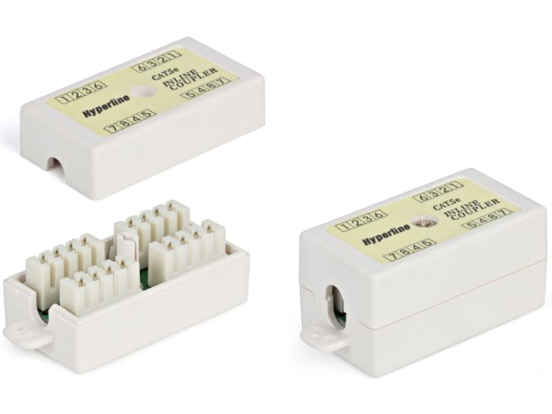 Проходной адаптер Hyperline 110&Krone кат.5е 4 пары CA-IDC-C5e-WH