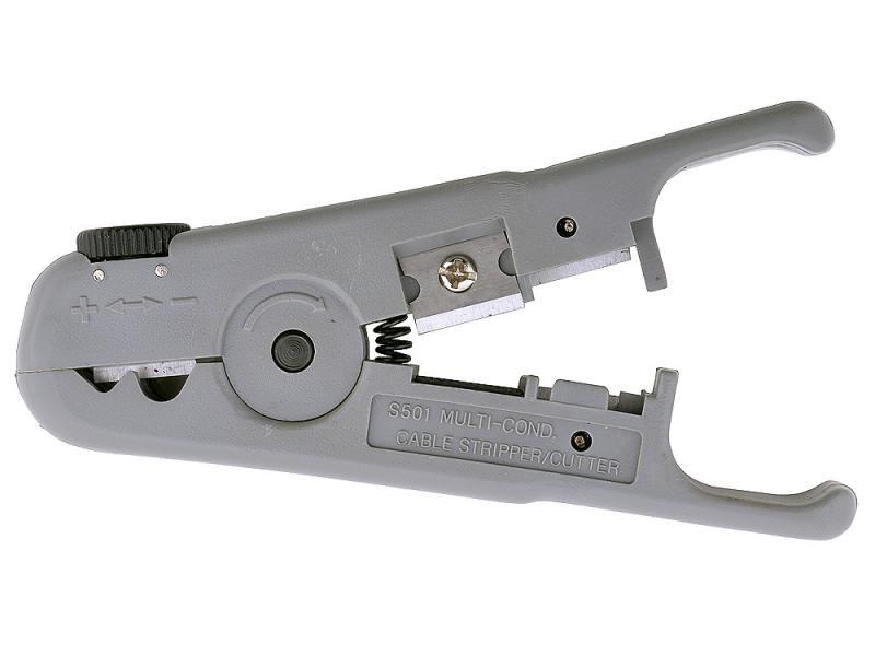 Универсальный зачистной нож 5bites LY-501B для UTP/STP и телефонного кабеля регулировка лезвия